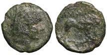 Ancient Coins - Macedonia, Amphipolis AE17. ca 3rd Century BC. Herakles \ lion standing right. RARE