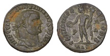 Ancient Coins - GALERIUS. 305-311 AD. FOLLIS.  GENIO IMPERATORIS