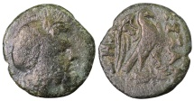 Ancient Coins - Thessalonika, AE20. 6.90 gr. – 20.65 mm. Zeus right \ eagle with open wings