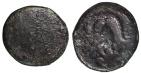 Ancient Coins - Macedon, Interregnum. 288-277 BC. AE17 Macedonian shield with monogram of Pyrrhos