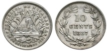 World Coins - NICARAGUA 10 C. 1887 H