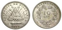 World Coins - NICARAGUA 10 C. 1880 H