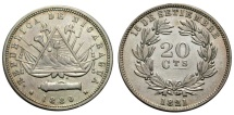 World Coins - NICARAGUA 20 C. 1880 H