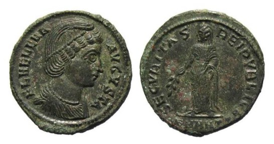 Helena, mother of Constantine the Great AD 307-337, AE Follis Antioch AD 327-28