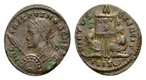 Ancient Coins - Crispus Caesar AD 317-326, AE Follis (18mm, 2.49 g) Siscia AD 320