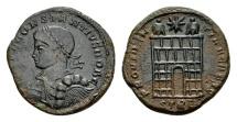 Ancient Coins - Constantius II Caesar AD 324-337, AE Follis (18mm, 3.14 g) Trier AD 327-28