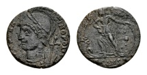 """Ancient Coins - Anonymous """"Constantinopolis"""" AE Follis (15mm, 1.51 g) Arelate AD 336 / Early Christogram"""