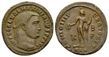 Ancient Coins - Galerius AD 305-311, AE Follis (24mm, 6.45 g) Alexandria late AD 308-310