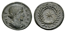 Ancient Coins - Helena, mother of Constantine the Great AD 307-337, AE Follis (19mm, 2.41 g) Thessalonica AD 318-319