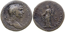 Ancient Coins - TRAJAN. AD 98-117. AE SESTERTIUS.