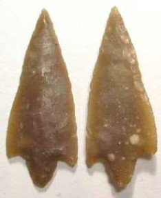North African flint arrow or atlatl point. Mesolithic period, ca. 4000 to 10,000 BC.