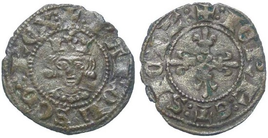 Italy, Naples, Charles II d'Anjou, AD 1285 to 1309. Billon Denier.