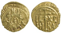 World Coins - Normans in Sicily. Roger II, AD 1105 to 1154. Gold Tari.