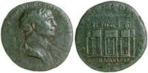 Ancient Coins - TRAJAN. AD 98-117.  AE SESTERTIUS.  BASILICA ULPIA