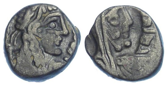 Nabataean, Rabbel II, 71 to 106 AD. Silver Drachm.