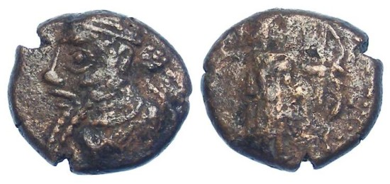 "Elymaids. Unknown Prince ""A"". early 3rd century AD. Bronze drachm"
