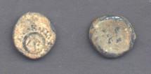 Ancient Coins - Alexander Jannaeus, 103-76 BC, Lead Prutah