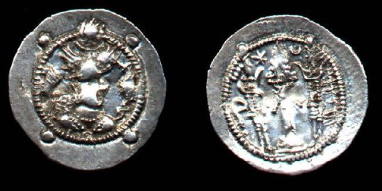 Hephthalites, the Chionites, ca AD460-470, AR Drachm