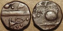 Ancient Coins - INDIA, Baroda, Malhar Rao (1870-75) AE 1/2 paisa, Baroda mint. SCARCE!