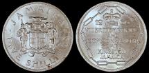 World Coins - 1966 Jamaica 5 Shillings - Elizabeth II - VIII Commonwealth Games - BU