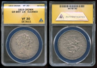 1819 LIX Great Britain Crown ANACS VF30
