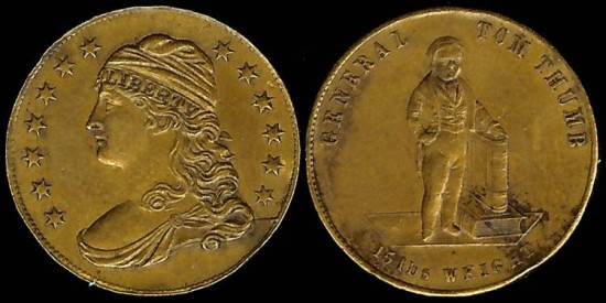 1852 General Tom Thumb Medal