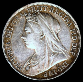 World Coins - 1900 Great Britain Crown XF