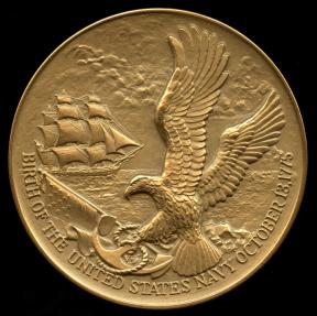 US Coins - 1975  United States - U.S. Navy 1775 Bicentennial Medal designed by Hal Reed, United States Mint. (#534)