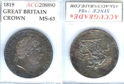 1819 Great Britain Crown ACG MS63