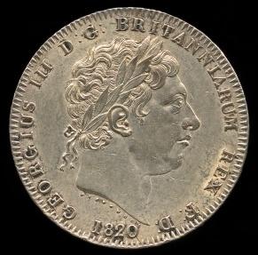 World Coins - 1820 LX Great Britain Crown UNC