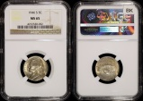 Us Coins - 1946 S Jefferson Nickel NGC MS65