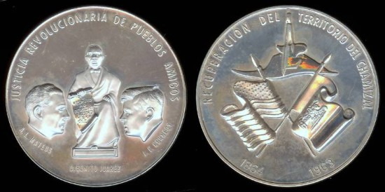 1963 John F. Kennedy and A. L. Mateos (Mexican Medal) Silver