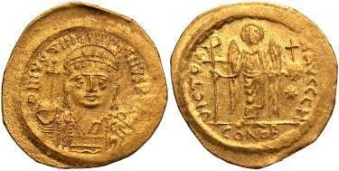 Justinian I AD 527-565, AV Solidus
