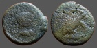 Ancient Coins - Sicily, Akragas AE19 Tetras..Eagle, with head lowered; crab behind / Crab, crayfish left below.