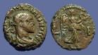 Ancient Coins - Diocletian billon tetradracm. Nike adv rt. w. wreath.  Egypt