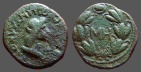 Ancient Coins - Bosporus, Rhoemetalces AE25 (48 Nummi)  Bust of Rhoemetalces rt / MH in wreath