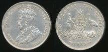 World Coins - Australia, 1935 Florin, 2/-, George V (Silver) - almost Extra Fine