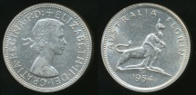World Coins - Australia, 1954(m) Florin, 2/-, Elizabeth II (Royal Visit)(Silver) - Uncirculated