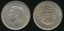 World Coins - New Zealand, 1951 1/2 Crown, George VI - Uncirculated