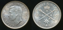 World Coins - Australia, 1951 Florin, 2/-, George V (Jubilee)(Silver) - Uncirculated