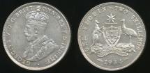 World Coins - Australia, 1934 Florin, 2/-, George V (Silver) - good Very Fine