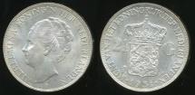World Coins - Netherlands, Kingdom, Wilhelmina I, 1931 2-1/2 Gulden (Silver) - Uncirculated