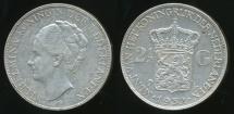 World Coins - Netherlands, Kingdom, Wilhelmina I, 1932 2-1/2 Gulden (Silver) - Extra Fine