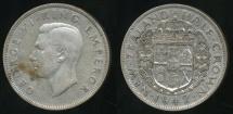 World Coins - New Zealand, 1942 1/2 Crown, George VI (Silver) - Fine