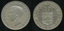 World Coins - New Zealand, 1941 1/2 Crown, George VI (Silver) - Fine