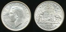 World Coins - Australia, 1943(s) Florin, 2/-, George VI (Silver) - Choice Uncirculated