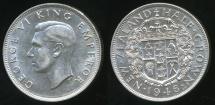 World Coins - New Zealand, 1946 1/2 Crown, George VI (Silver) - aUnc/Unc