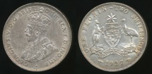 World Coins - Australia, 1927 Florin, 2/-, George V (Silver) - Very Fine
