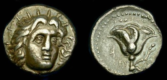 Caria.  Rhodes.  Ar didrachm.  304-275 BC.  Pleasing coin.