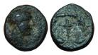 Ancient Coins - Aiolis, Elaia, 2nd-1st century BC. AE15, Kore-Persephone / Torch - nice!
